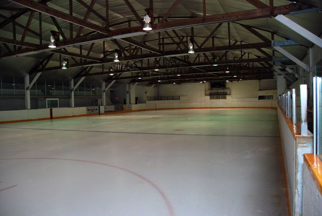 The Bruce Mines Plummer Additional Arena's maintenance issues are obvious.