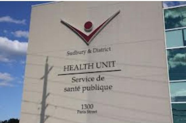 Sudbury and District Health Unit. File photo