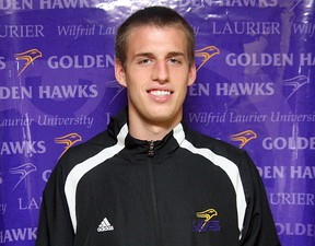 Laurier Golden Hawks basketball player Max Allin of Chatham. (Photo courtesy of Wilfrid Laurier University Department of Athletics and Recreation)