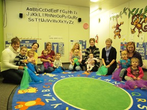 Babies and children enjoyed the class with their mothers