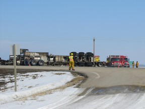 A collisions at the highways 43 and 22 intersection (the main entrance into Mayerthorpe) is among others which have raised questions as to the safety of the intersection. The collision occurred on March 7, 2012.