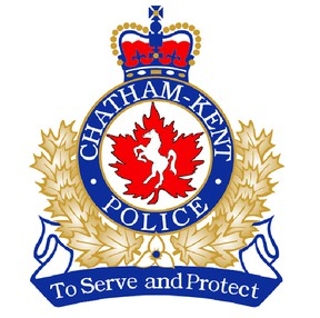 This is the current crest being used by the Chatham-Kent Police Service. A new design has been submitted and is awaiting final approval and ultimately the blessing of Queen Elizabeth II.