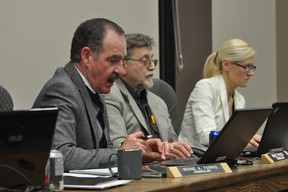 Coun. Irvine Ferris outlines city council's options to replace a damaged pumping station at the municipality's wastewater treatment plant. (Portage Daily Graphic file photo)