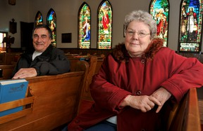 St. Andrew Anglican church wardens Peter Wicks, left, and Karlene Bourdeau, said a lack of funds and an aging congregation have lead to the closure of St. Andrew's Anglican Church in Tilbury, On., Wednesday January 15, 2013.  DIANA MARTIN/ THE CHATHAM DAILY NEWS/ QMI AGENCY
