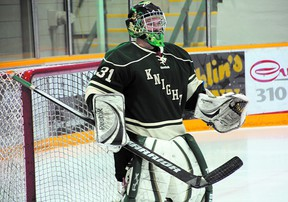 Knights goalie Brett Lewis. Photo supplied