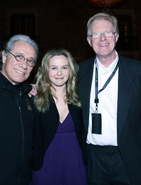 Actors Edward James Olmos, Alicia Silverstone and Ed Begley Jr. at the Fairmont Banff Springs Hotel at last year's celeb ski event. FILE PHOTO