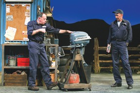 The Manitoba Theatre Centre's presentation of Ed's Garage by award-winning humour playwright Dan Needles is the Lake of the Woods Concert Group presentation on Thursday evening at 7:30 p.m. at Lakewood Public School. SUPPLIED PHOTO/ Grand Theatre Production Photography
