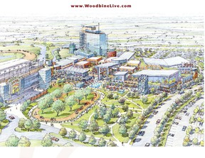 A sketch of the proposed Woodbine Live project - which would have incorporated a four-star hotel, music venue, restaurants and outdoor rink.