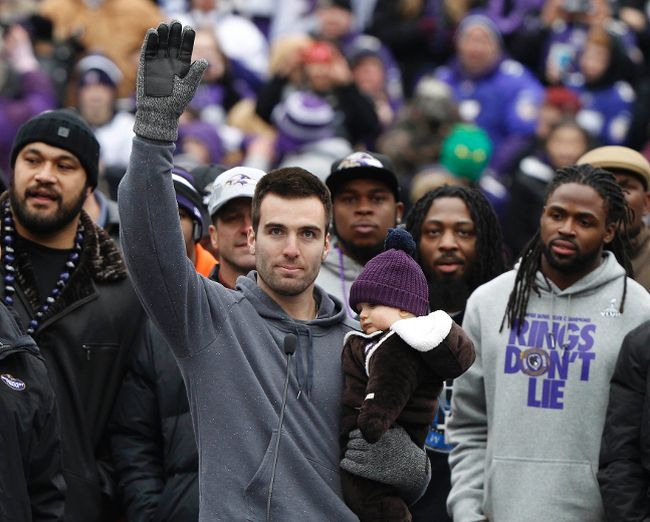 Ravens' Joe Flacco could be waving goodbye to some teammates if he signs a massive deal. (REUTERS)