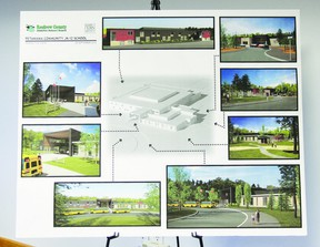 An artist's concept of Petawawa's K-12 school, which is slated to open in the fall of 2014. Petawawa residents got a glimpse of the new school's designs at a public meeting at General Lake School Thursday evening.