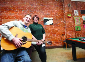Chris Dreifelds and Tina Avery oversee the Napanee Youth Space off of Napanee's Market Square. The space offers local teens a low-key environment to connect, be creative, and learn skills that they're interested in.          Meghan Balogh - Napanee Guide