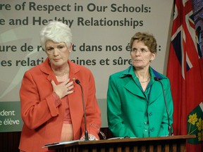 Education Minister Liz Sandals and Premier Kathleen Wynne. (QMI AGENCY PHOTO)