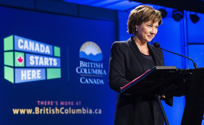 B.C. Premier Christy Clark. (24 HOURS FILE PHOTO)