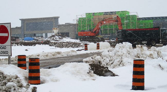 Construction at the Heritage Grove development earlier this year.