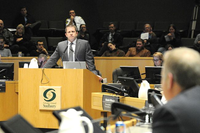 Ontario Ombudsman Andre Marin addresses city council in Sudbury in December 2012. GINO DONATO/THE SUDBURY STAR/QMI AGENCY