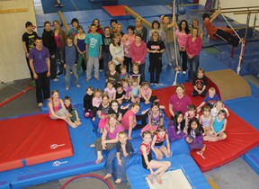 Fairview Gymnastics Club members after their successful Spring Fling