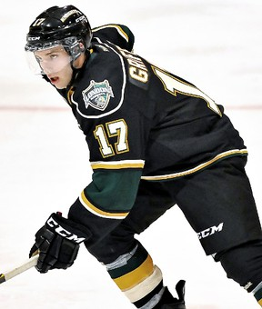 London Knights forward Seth Griffith of Wallaceburg. (TERRY WILSON/OHL Images)