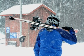 Even with the blizzard-like conditions Family Day is still on with plenty of things to do in Kenora including downhill skiing and Nordic skiing at Mount Evergreen.