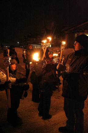The Beaumont #1 and #2 Scouts groups came together on Tuesday, Feb. 19, to host their annual Torch Walk, which began at the Beaumont Fire Department, continued south down 50 Street and came to a halt at Lions RV Park.