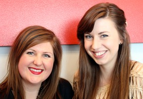 Emily Delaney (left) and her friend Emily Collins are both working on a local production of the play The Vagina Monologues,