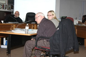 Ray Prevost of the Lakeland Lodge and Housing Foundation, and Connie Surgeson, chief administrative officer for the foundation's Bonnyville, Cold Lake and Glendon facilities. spoke at a special Cold Lake city council meeting Feb. 19 to update that body on the Cold Lake Lodge. Please see story on Page 10.