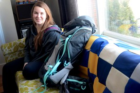 Emily Tetzlaff is seen here in her family's Trenton, ON, home on Thursday, Feb. 21, 2013. The Laurentian University student will head to Mongolia later this year for a humanitarian mission through her school. Emily Mountney Trentonian