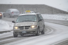 Driving in the coming snowstorm Wednesday afternoon and Thursday will be treacherous with a mix of snow and rain. MICHAEL PEELING/The Paris Star/QMI Agency