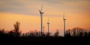 This is a photo of the Erie Shores wind farm near Port Burwell.