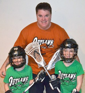 Elmer Stevenson and his sons Kirk and Cole are looking forward to the Quinte Lacrosse League's upcoming skills camp.
