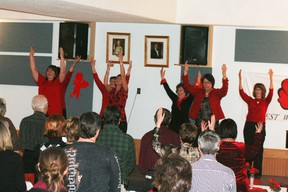 The Crossroads board of directors and employees performed a dance choreographed for the event to music written for A Billion Rising. The name of the event is taken from the number of women assaulted world wide.