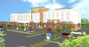An artist's rendering of the Holiday Inn Express & Suites in Spruce Grove. Photo supplied.