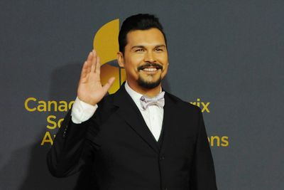 """Adam Beach of """"Arctic Air"""" arrives during the first Annual Canadian Screen Awards at The Sony Centre for Performance Arts, March 3, 2013. (REUTERS/Jon Blacker)"""