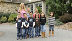 Kate Gosselin with her brood. (Handout)