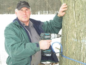 MONTE SONNENBERG Simcoe Reformer Once the current cold snap is over, syrup producer Gary Watt of Waterford expects the sap will be running fast and furious in his sugar bush north of Simcoe.