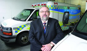 Paul Charbonneau, chief of Paramedic Services, wants to see a province-wide alert system in place to keep paramedics safe.      Rob Mooy - Kingston This Week / Frontenac This Week