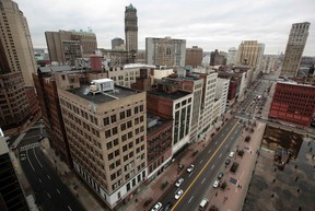 A view of downtown Detroit is seen looking north along Woodward Avenue in Detroit, Michigan January 30, 2013. (REUTERS)