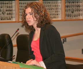 Robyn Hamlyn speaks to Chatham-Kent council about the Blue Communities Project.