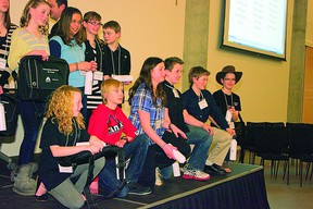 A total of 2,800 students across Elk Island Public Schools competed at the school level to be chosen as one of the top 70 who will take part in next week's Young Speakers Invitational on March 13.  Photo Supplied