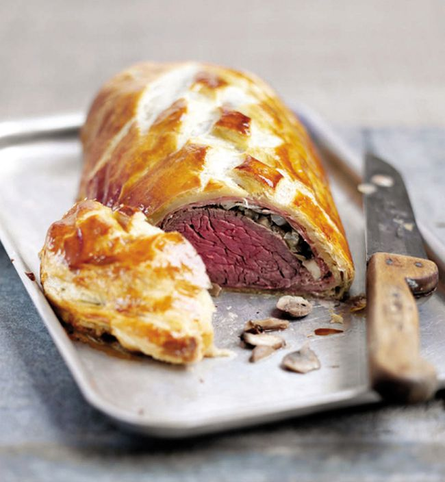 Prosciutto and Mushroom Beef Wellington. (Courtesy of The Kitchen Men cookbook, Whitecap)