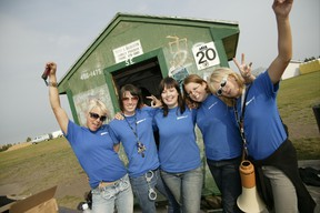 A group of STEP workers pose for a picture at a Mill Woods Green Shack. PHOTO SUPPLIED City of Edmonton