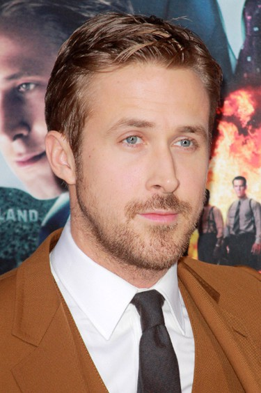 """Ryan Gosling.Though the actor has never addressed the rumours, writer E.L. James did set the record straight when she spoke to Ryan Seacrest. """"What happened is that (my husband's) local paper, he's from Northern Ireland, there's a newspaper there called the Belfast Telegraph that reported on (him) being the inspiration for Christian Grey,"""" she explained. """"Underneath it they put a picture of Ryan Gosling, as well. So, that's how that came out.""""(Ai-Wire/WENN.COM)"""