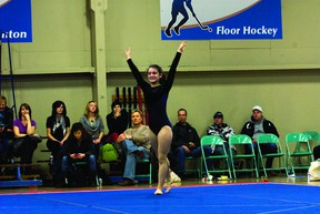 Joelle Jobin was one of three Southport Sapphires advanced level gymnasts to clinch a spot in the Manitoba Winter Games. (File photo)