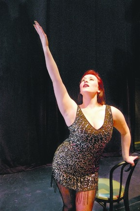 Sarah Abbott performs as Sally Bowles in Fuse Productions? Cabaret, opening Thursday and running until March 30 at the Grand Theatre?s McManus Studio.
