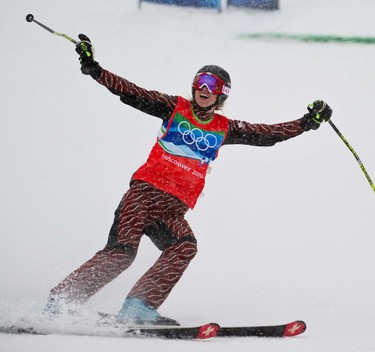 Vancouver 2010 Winter Ashleigh McIvor (CAN) finishes first and winning gold  during the Olympic ski cross at Cypress Mountain, B.C., on Tuesday, Feb. 23, 2010. (MARTIN CHEVALIER/QMI AGENCY)
