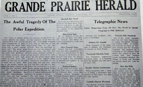 First edition of the Grande Prairie Herald in 1913.