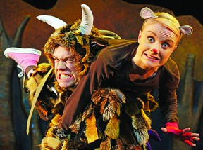 UK theatre company Tall Stories brings their musical adaptation of bestselling children's story The Gruffalo to The Grand Theatre on Sunday April 7.       Contributed photo.