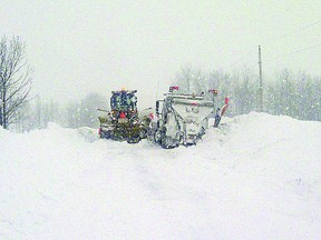 Strathcona County snow clearing crews were out in full force this past winter, clearing roads after a heavy snowfall. Courtesy of Strathcona County