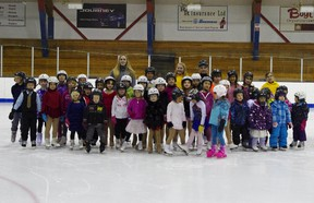 The Canskaters posed for a group photo after their competition March 21.