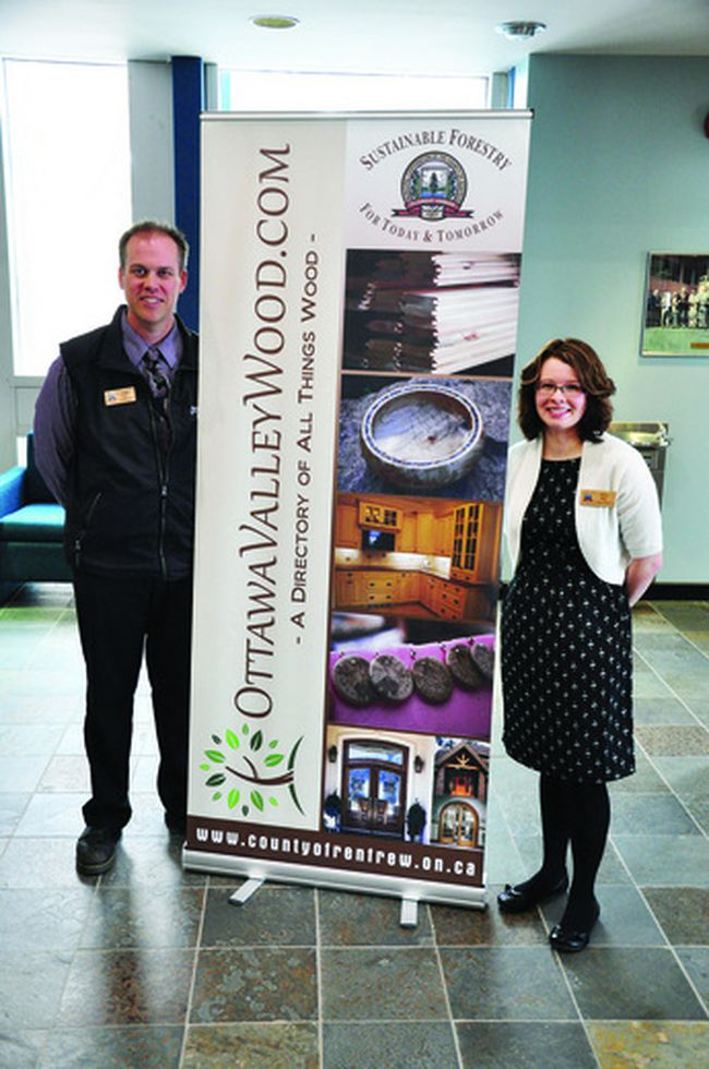 Renfrew County business development officer Craig Kelly and forester Lacey Rose made a presentation to county council last week promoting their brand new website, www.ottawavalleywood.com, a hub for all things forestry and woodworking in the Ottawa Valley.