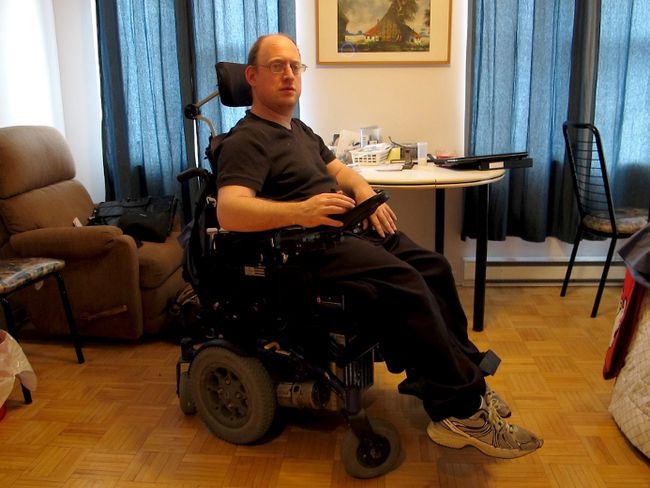 Andrea Cudini, paralyzed since birth by cerebral palsy, wants prostitution to be decriminalized for the benefit of disabled people or anyone else willing to pay for sex. (ANNE-CAROLINE DESPLANQUES/QMI Agency)